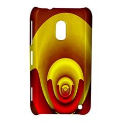 Red Gold Fractal Hypocycloid Nokia Lumia 620 by Simbadda