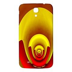 Red Gold Fractal Hypocycloid Samsung Galaxy Mega I9200 Hardshell Back Case by Simbadda
