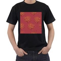 Beautiful Tree Background Pattern Men s T Shirt (black) by Simbadda