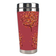 Beautiful Tree Background Pattern Stainless Steel Travel Tumblers by Simbadda