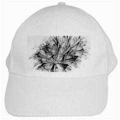 High Detailed Resembling A Flower Fractalblack Flower White Cap by Simbadda