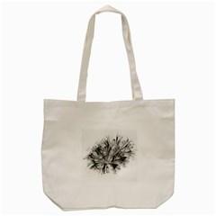 High Detailed Resembling A Flower Fractalblack Flower Tote Bag (cream) by Simbadda