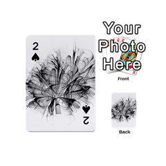 High Detailed Resembling A Flower Fractalblack Flower Playing Cards 54 (mini)  by Simbadda
