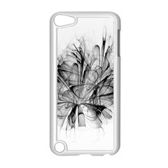 High Detailed Resembling A Flower Fractalblack Flower Apple Ipod Touch 5 Case (white) by Simbadda