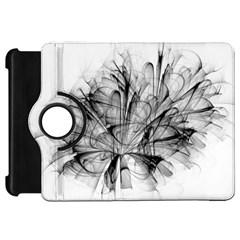 High Detailed Resembling A Flower Fractalblack Flower Kindle Fire Hd 7  by Simbadda