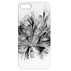 High Detailed Resembling A Flower Fractalblack Flower Apple Iphone 5 Hardshell Case With Stand by Simbadda