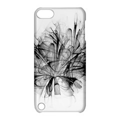 High Detailed Resembling A Flower Fractalblack Flower Apple Ipod Touch 5 Hardshell Case With Stand by Simbadda