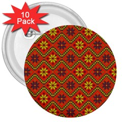 Folklore 3  Buttons (10 Pack)  by Valentinaart
