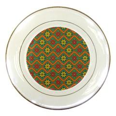 Folklore Porcelain Plates by Valentinaart