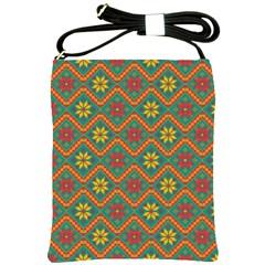 Folklore Shoulder Sling Bags by Valentinaart