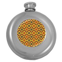 Folklore Round Hip Flask (5 Oz) by Valentinaart