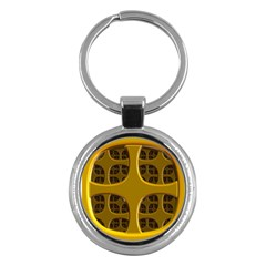 Golden Fractal Window Key Chains (round)  by Simbadda