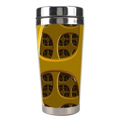 Golden Fractal Window Stainless Steel Travel Tumblers by Simbadda