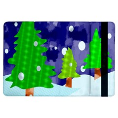 Christmas Trees And Snowy Landscape Ipad Air Flip by Simbadda