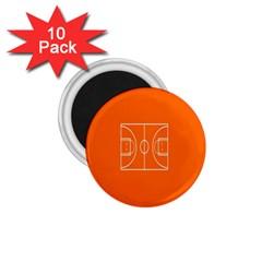 Basketball Court Orange Sport Orange Line 1 75  Magnets (10 Pack)  by Alisyart