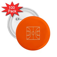 Basketball Court Orange Sport Orange Line 2 25  Buttons (100 Pack)  by Alisyart