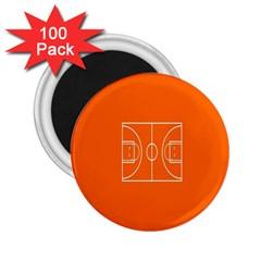 Basketball Court Orange Sport Orange Line 2 25  Magnets (100 Pack)  by Alisyart