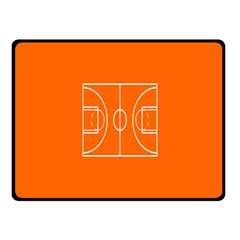 Basketball Court Orange Sport Orange Line Fleece Blanket (small) by Alisyart