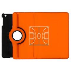 Basketball Court Orange Sport Orange Line Apple Ipad Mini Flip 360 Case by Alisyart