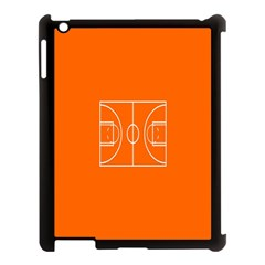Basketball Court Orange Sport Orange Line Apple Ipad 3/4 Case (black) by Alisyart