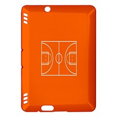 Basketball Court Orange Sport Orange Line Kindle Fire Hdx Hardshell Case by Alisyart