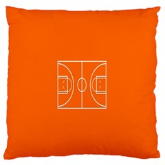 Basketball Court Orange Sport Orange Line Standard Flano Cushion Case (one Side) by Alisyart