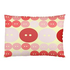 Buttons Pink Red Circle Scrapboo Pillow Case (two Sides) by Alisyart