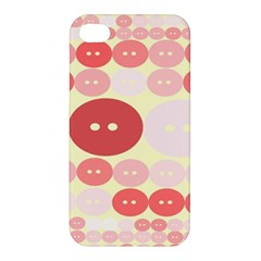 Buttons Pink Red Circle Scrapboo Apple Iphone 4/4s Premium Hardshell Case by Alisyart