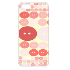 Buttons Pink Red Circle Scrapboo Apple Iphone 5 Seamless Case (white) by Alisyart