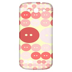 Buttons Pink Red Circle Scrapboo Samsung Galaxy S3 S Iii Classic Hardshell Back Case by Alisyart