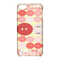 Buttons Pink Red Circle Scrapboo Apple Ipod Touch 5 Hardshell Case With Stand by Alisyart