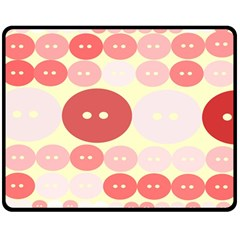 Buttons Pink Red Circle Scrapboo Double Sided Fleece Blanket (medium)  by Alisyart