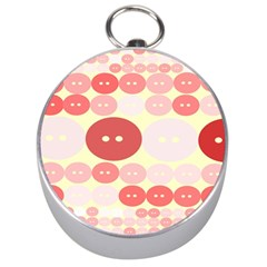 Buttons Pink Red Circle Scrapboo Silver Compasses by Alisyart
