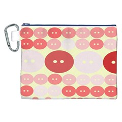 Buttons Pink Red Circle Scrapboo Canvas Cosmetic Bag (xxl) by Alisyart
