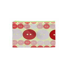 Buttons Pink Red Circle Scrapboo Cosmetic Bag (xs) by Alisyart