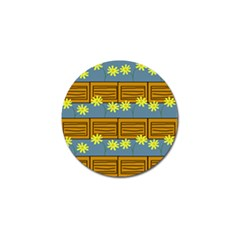 Yellow Flower Floral Sunflower Golf Ball Marker (4 Pack) by Alisyart