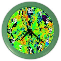 Bow Canopy Height Satelite Map Color Wall Clocks by Alisyart