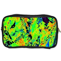 Bow Canopy Height Satelite Map Toiletries Bags by Alisyart