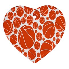 Basketball Ball Orange Sport Ornament (heart) by Alisyart