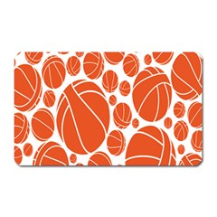 Basketball Ball Orange Sport Magnet (rectangular) by Alisyart