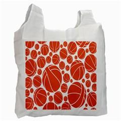Basketball Ball Orange Sport Recycle Bag (one Side) by Alisyart