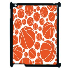 Basketball Ball Orange Sport Apple Ipad 2 Case (black) by Alisyart