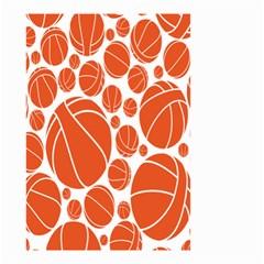 Basketball Ball Orange Sport Small Garden Flag (two Sides) by Alisyart