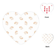 Birds Sketch Pattern Playing Cards (heart)  by dflcprints