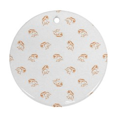Birds Sketch Pattern Round Ornament (two Sides) by dflcprints