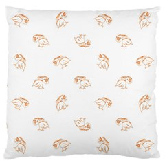 Birds Sketch Pattern Large Cushion Case (two Sides) by dflcprints