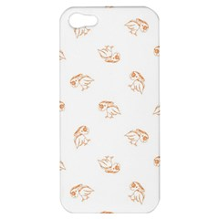 Birds Sketch Pattern Apple Iphone 5 Hardshell Case by dflcprints