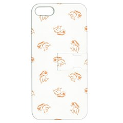 Birds Sketch Pattern Apple Iphone 5 Hardshell Case With Stand by dflcprints