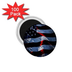 Grunge American Flag Background 1 75  Magnets (100 Pack)  by Simbadda
