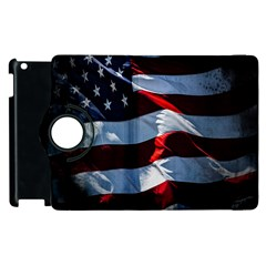 Grunge American Flag Background Apple Ipad 3/4 Flip 360 Case by Simbadda